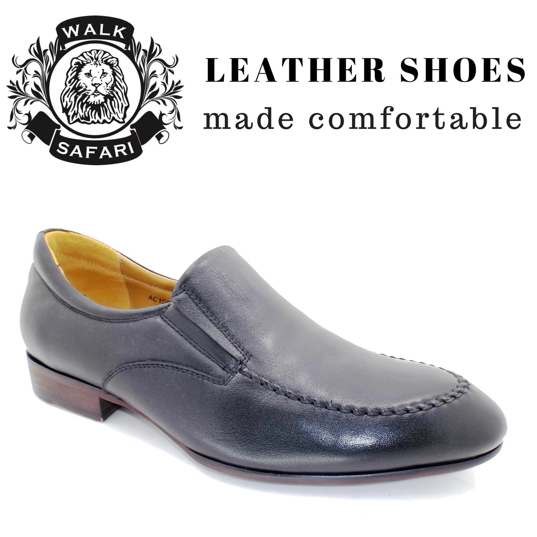 smart black leather shoes